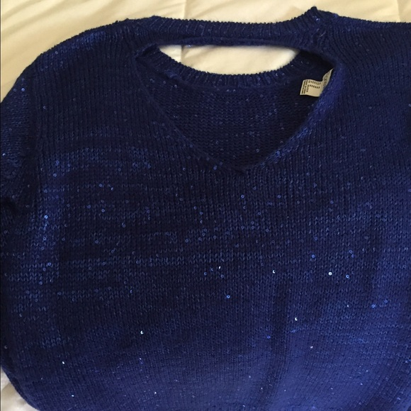 49% off Forever 21 Sweaters - Sparkly Blue Sweater from Katie's ...