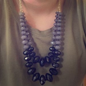 Grey and Black Statement Necklace