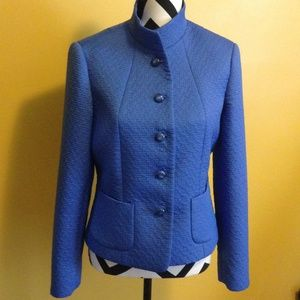 Beautiful blue blazer quilted look sz8