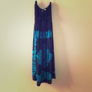 Black&Blue sexy beach dress