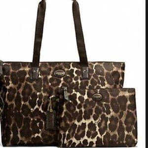 Coach Handbags - FLASH SALE! Coach Leopard Weekender