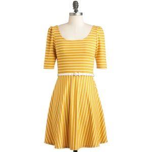 Modcloth Colorful Confidence Dress in Saffron