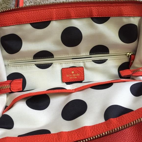 kate spade Bags - Kate Spade orange leather tassel tote