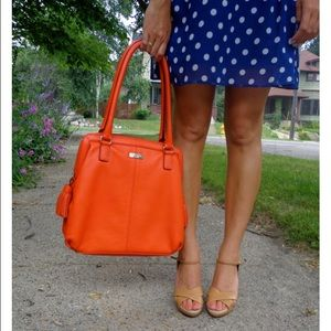 kate spade Handbags - Kate Spade orange leather tassel tote