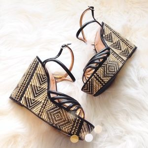 BCBGeneration Aztec Stitched Wedges