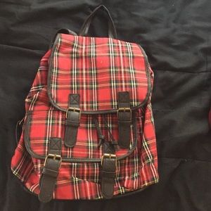 Handbags - plaid backpack