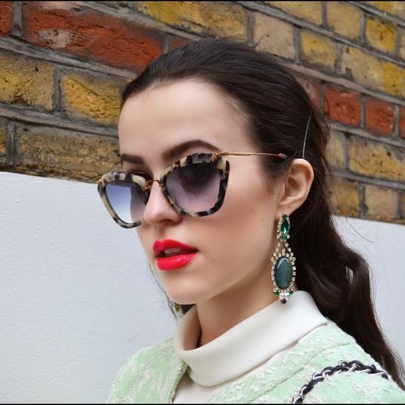 8555b44f93cf Miu Miu Dappled Havana Noir Cat Eye Sunglasses. M_557a462a986c424932000bea