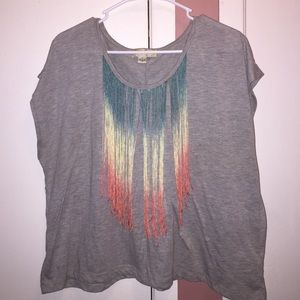 F21 crop top with fringe