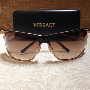 Genuine Versace Gold and Black Ombré Sunglasses