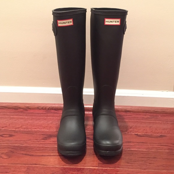 36d9e6bcbced Women s original tall matte black hunter boots