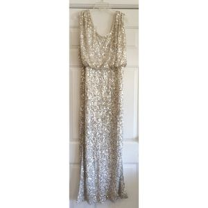 5b0cfce8 JS Collections Dresses | Blouson Bodice Sequin Mesh Gown | Poshmark