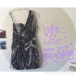 NWT  BLack and White Cheetah Print Dress