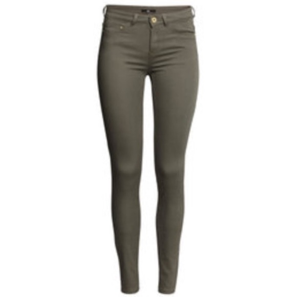 50% off H&M Pants - Olive Colored Skinny Jeans from Holly's closet ...