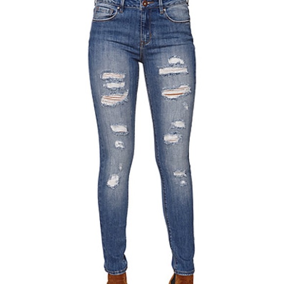62% off PacSun Pants - Pacsun High Rise Ripped Skinny Boyfriend ...