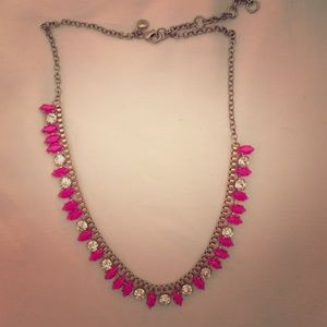 Jcrew pink and gold necklace