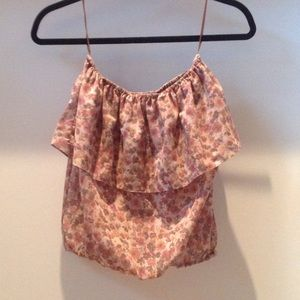 Floral tube top by Torn by Ronny Kobo
