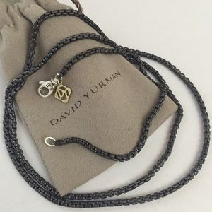 Authentic David Yurman Darkened box chain 2.7mm