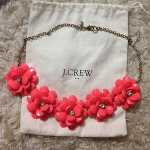 Jcrew light pink flower necklace