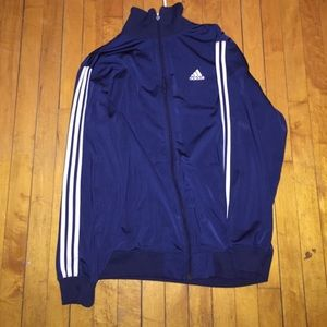 Navy blue Adidas track jacket