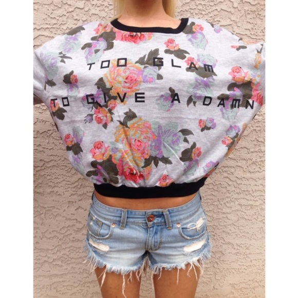 Minkpink Sweaters 1 Left Floral Too Glam To Give A Damn Sweater