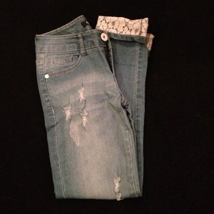 ROMWE jeans, size small, never worn