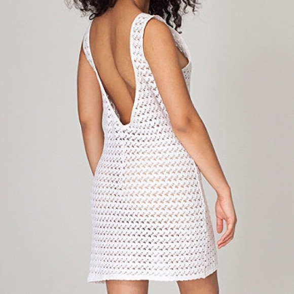 American Apparel White Lace Scoop Back Dress a498eb010