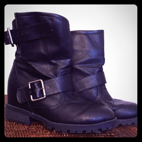 66 cupid boots black booties from s closet