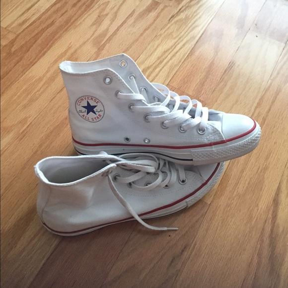 ec6193deed21 Converse Shoes - White converse size 6 in men size 8 in women