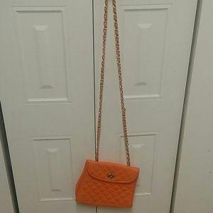 Cute orange cross body bag.