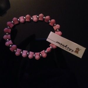 Monkeys pink bracelet