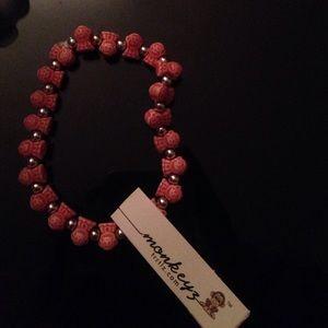 Red monkeyz bracelet