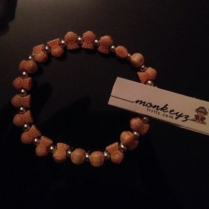Peach/Orange monkeyz bracelet