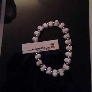 White monkeyz bracelet