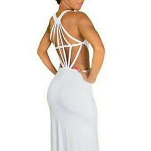 Dresses & Skirts - White Diamond back maxi dress