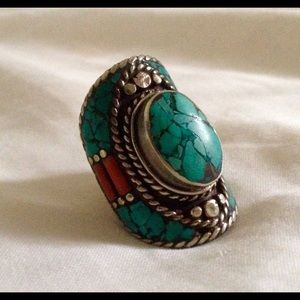 🚫 Sold!🚫 Turquoise Bohemian Ring