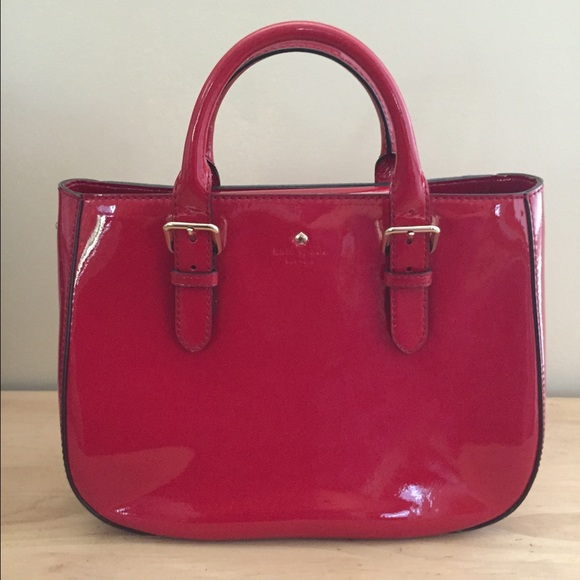 58% off kate spade Handbags - Kate Spade red patent leather purse ...