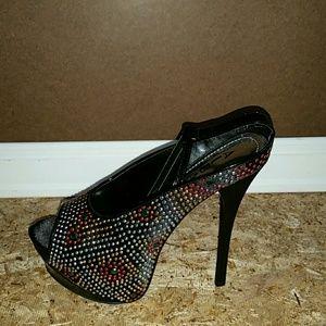 Fairy Black Fish Nose High Heels no shoe box