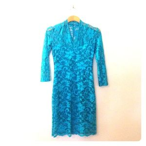ASOS Lace Dress in Blue