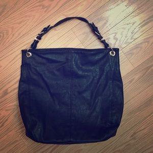 ZARA Large bucket shoulder bag with gold detail