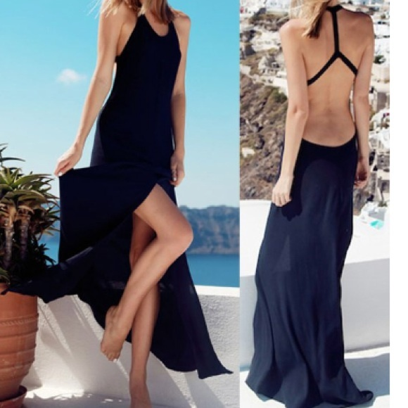 Dresses New Black Backless Summer Maxi Dress Poshmark