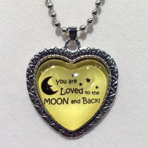 Jewelry - New - You are Loved To The Moon & Back Necklace
