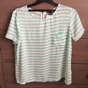 Forever 21 Tops - Mint and white blouse