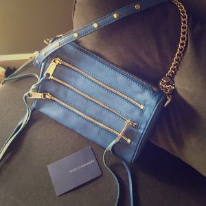 Electric blue Rebecca Minkoff  Zip crossbody purse