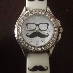 Mustache Watch (worn once)
