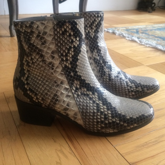 Jimmy Choo Snakeskin Studded Booties sale fashion Style y7CBogpg