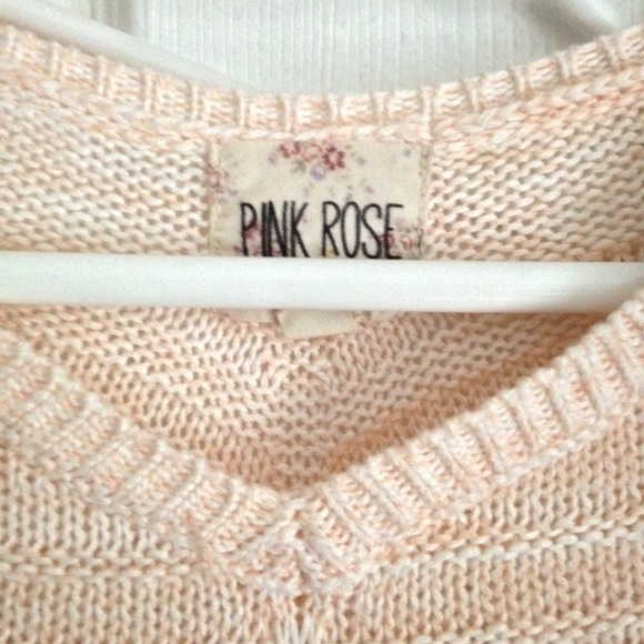 Brandy Melville - Pink Rose brand knit sweater XS from Kate's ...