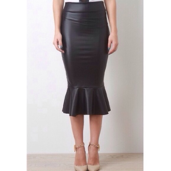 quot mermaid quot faux leather peplum skirt s from does not