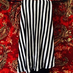 Dresses & Skirts - High-Low Striped Maxi Skiry