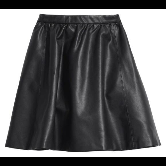 50 h m dresses skirts h m divided black leather