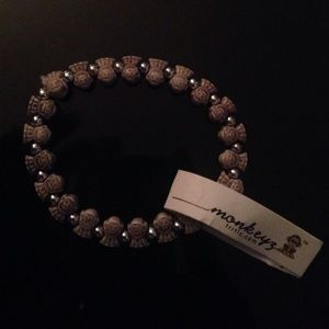 Grey/light brown monkeyz bracelet